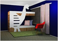 Dinosaur room concept @Nicky Day.net Furniture, Dinosaur Room, Room, House, Toddler Bed, Loft Bed, Beautiful Homes, Home Decor, Bed