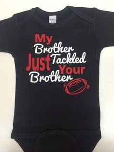 Sibling football onsie or tshirt  by JustPiddilin on Etsy