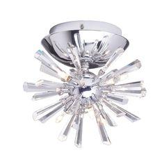 Dinggu Modern Flush Mounted Crystal Led Ceiling Lamp Chandelier Light Fixtures Included 6 Lights