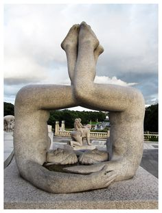 Gustav Vigeland Park in Oslo - Norway. Or as my sister and I used to maturely call it, the Nudie Park. This sculpture, we called the TV. Oslo, Beautiful Norway, Norway Travel, Unusual Art, Travel Memories, New Artists, The Places Youll Go, Trip Planning, Sculpture Art