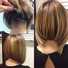 Bob Hair Cuts - Neueste Frisuren, Frisuren, Haar Modelle - The most beautiful hairstyles Bob Haircuts For Women, Short Bob Haircuts, Haircut Bob, Angled Haircut, Inverted Bob Haircuts, Creative Hairstyles, Cool Hairstyles, Wedge Hairstyles, Latest Hairstyles