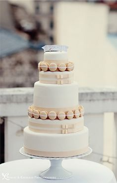 Macaron Wedding Cake-Paris-Fashion-Shoot-Robert-Kathleen-Photographers-Style Me Pretty by camillestyles, via Flickr