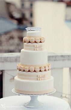 Love this! macaron wedding cake