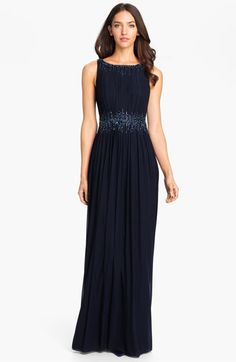 For my Mama. #nordstromweddings La Femme Embellished Waist Mesh Column Gown available at #Nordstrom