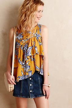 Anthropologie Pleated Posies Tank Found on my new favorite app Dote Shopping #DoteApp #Shopping
