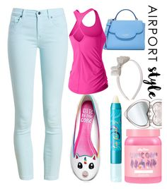 """""""Flight Mode #airportstyle"""" by landi-ruthven on Polyvore featuring Barbour, Cute To the Core, Lime Crime, Too Faced Cosmetics, Monsoon, tarte, Kate Spade and New Balance"""