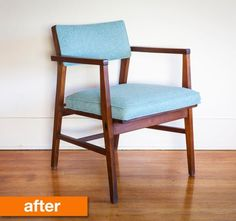 Before & After: Rachael's Simple and Sweet Found Free Chair Makeover