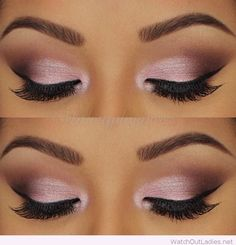 Rose and black eye makeup inspiration