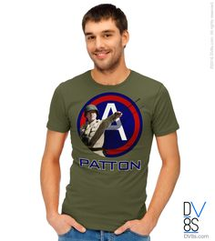 General George S. Patton, Jr. t-shirts, tanks, sweatshirts, and hoodies by DV8s.com. Get $5.00 off with coupon code 5BUCKS.