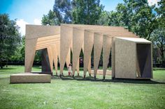 London-based firm IPT Architects recently unveiled this year's Summer Triumph Pavilion for the V & A Museum of Childhood's Museum Gardens.