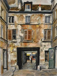 Artwork by Takanori Oguiss, UNE COUR À LA ROQUETTE, Made of Oil on canvas