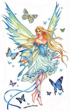 fairy :: butterflies blue image by tharens - Photobucket