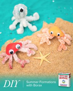 Looking for a fun and easy summer craft you can do with the kids? Check out these Fun #DIY Summer Formations you can create with the help of 20 Mule Team Borax https://www.20muleteamlaundry.com/uses/arts-crafts/how-to-make-crystal-formations-with-borax