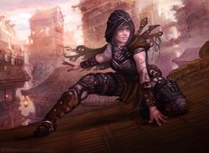 """Thief by JoshCalloway   Digital Art / Drawings & Paintings / People / Fantasy   Character class rogue   Author's note: """"Card art for http://dueloflegendsgame.com/ """""""