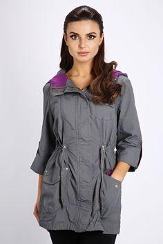 3/4 Sleeve Parka Jacket @ Everything5pounds.com