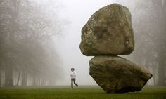 March A jogger passes the installation 'Rock on Top of Another Rock' in Hyde Park in London. Fischli Weiss, Sculpture Art, Sculptures, Image Of The Day, London Life, Wabi Sabi, Rock Art, Good News, Funny Pictures