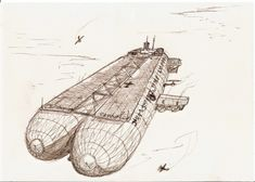 On Patrol by The-Necromancer on DeviantArt Concept Ships, Concept Art, Armor Concept, Steampunk Ship, Steampunk Furniture, Military Drawings, Necromancer, Cool Sketches, Environmental Art