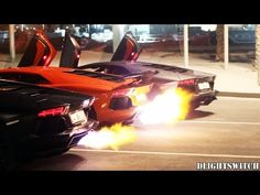 Which of these 3 Lamborghini Aventadors shoots the craziest flames?