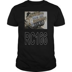 RC166 N03 - For fans of the best sounding engine ever. Limited edition design by former artist for the Motorcycle News Dave Ell.NOT in the shops. Get yours here  #biker #bikershirts #motorcycle #motorcycleshirts