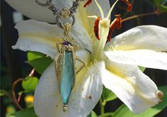 Grasshopper Pendant – Diamond & Carved Amethyst – Barbara Bixby