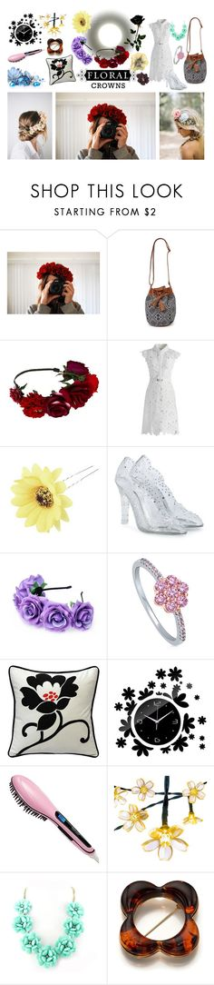 """""""Floral Crown Decor"""" by ioakleaf on Polyvore featuring interior, interiors, interior design, home, home decor, interior decorating, With Love From CA, Chicwish, Chicnova Fashion and Dolce&Gabbana"""