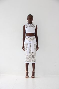 S/S 2016 - Malcolm's Closet All White, Lace Skirt, Two Piece Skirt Set, Skirts, Closet, Dresses, Fashion, Gowns, Moda