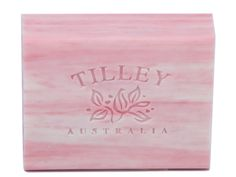 Pink Lychee Rough Cut Soap. A great seller! Great blog on Tilley Soaps http://thecatapproves.wordpress.com/2014/01/13/review-tilley-soaps-australia/