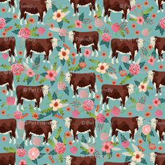 Cow Wallpaper, Wallpaper Backgrounds, Iphone Wallpaper, Retro Wallpaper, Wallpapers, Screen Wallpaper, Cotton Twill Fabric, Cotton Canvas, Hereford Cows