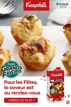 French Onion Soup Puffs Campbell's® Ready to Use Beef Broth contains only quality ingredients and natural flavors. It is seasoned to perfection to add a rich flavour to your holiday recipes. Tap the Pin to see the trend. Yummy Appetizers, Appetizer Recipes, Holiday Appetizers, Puff Recipe, Snacks Sains, Brunch, French Onion, Light Recipes, Clean Eating Snacks