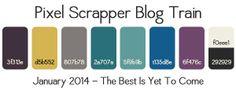 PS January 2014 Blog Train Palette by Pixel Scrapper, via Flickr