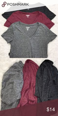 Old Navy Vintage V Neck T Shirt Bundle All are in very good condition! Women's size medium. ❣️ 30% OFF ALL BUNDLES! ❣️ Old Navy Tops Tees - Short Sleeve