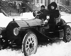 Boxer Jack Johnson Driving