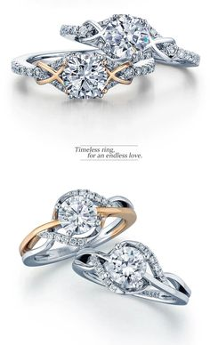 Frederic Sage twist engagement rings. Available at Lyle Husar Designs | Brookfield WI