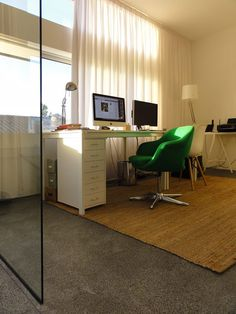 office at the end of the day My Workspace, Corner Desk, Furniture, Home Decor, Corner Table, Interior Design, Home Interior Design, Arredamento, Home Decoration