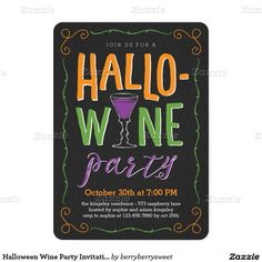 96 best halloween chic invitations images on pinterest halloween halloween wine party invitation stopboris Gallery