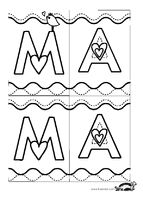 children activities, more than 2000 coloring pages Easy Preschool Crafts, Diy Crafts For Kids, Mother's Day Printables, 8 Martie, Manualidades Halloween, Mom Cards, Fathers Day Crafts, Mom Day, Mother's Day Diy