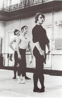 Mikhail Baryshnikov in a rehearsal hall