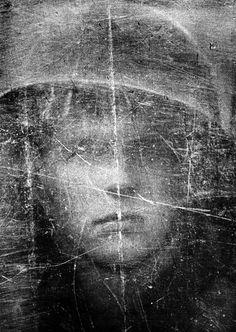 Philip Jones Griffith: Soldier with bulletproof shield. Northern Ireland, 1973.