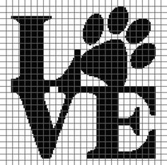 Embroidery Alphabets Bracelets Dog Love (Graph AND Row-by-Row Written Crochet Instructions) – 06 - This crochet graphghan pattern is 135 x 134 squares and comes with the written row-by-row instructions as well as the graph. Cross Stitching, Cross Stitch Embroidery, Embroidery Patterns, Cross Stitch Designs, Cross Stitch Patterns, Minecraft Banner Designs, Graph Crochet, Filet Crochet, Modele Pixel Art