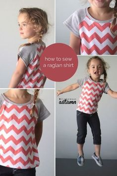 learn how to draft a pattern for a raglan shirt, then how to sew it up - it's easy!