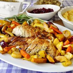 Lemon Sage Butter Roasted Turkey - my girl will love this