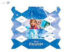 FROZEN Candy Shaped Box Party Favor  Approx. 4 x 1.5 by VickysBows, $3.00