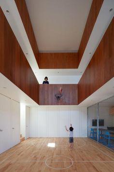 Un terrain de basket indoor ultra design made in Japan