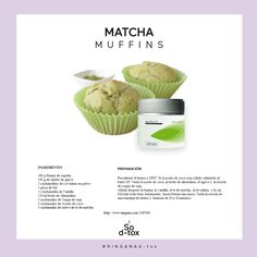 El Te de Matcha es un té verde de calidad especial, molido fino. Es estimulante y revitalizante como para comenzar el día con placer y buen humor, a la vez que reduce el estrés y calma los nervios. Es adaptógeno y no en vano se usa para la meditación.  El altamente antioxidante y contiene numerosos nutrientes como proteinas, polifenoles, vitaminas, calcio, hierro Matcha, Cantaloupe, Muffins, Fruit, Lifestyle, Ring, Breakfast, Food, Vitamins