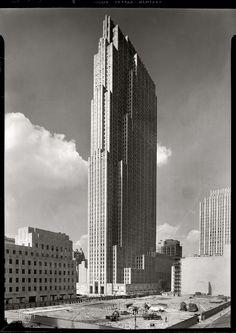 september 1, 1933  rockefeller center towering alone