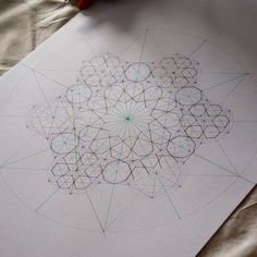 """""""A pattern taught last week at the Crow Museum during a sacred geometry session. The conference has now come to a close and we are back in the UK. We had a…"""""""