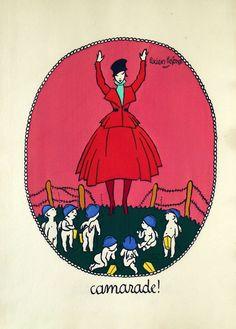 - La Guerre en dentelles en 1916. Paris, Lutétia, sd. In-folio en ff., couv. illustrée en couleurs. 6 planches coloriées au pochoir.