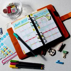 April Monthly Planner Page - in my Color Crush Planner - Scrapbook.com