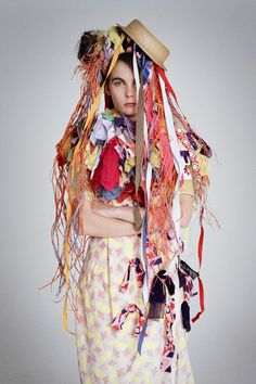 He captured the folk movement's practitioners - from Mumford & Son to morris dancers - for the July 2011 issue, while model Hannah Noble was photographed in a Louise Gray dress and headpiece, Vogue UK Photo by Tim Walker/Vogue