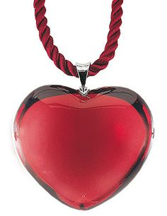 Baccarat Glamour Heart Pendant Necklace, Ruby